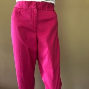 Talbots Signature fit hot pink cropped pants
